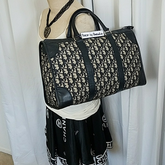 69e35ee5cfd2 Christian Dior Handbags - Vintage big Christian Dior Tapestry Satchel bag